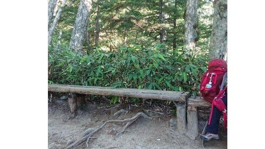 富士見台のベンチ