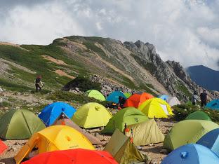 大天井岳のテント場