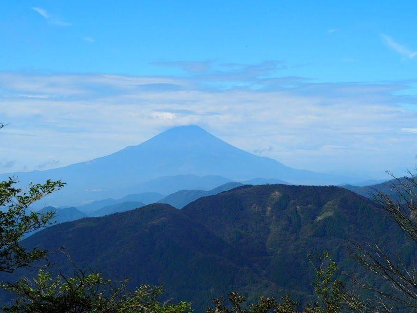 大山からみる富士山