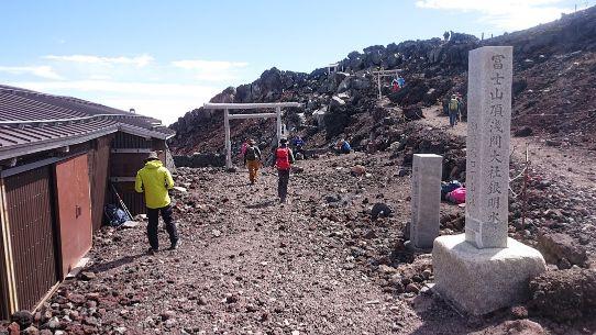 富士山山頂の御殿場への下山道
