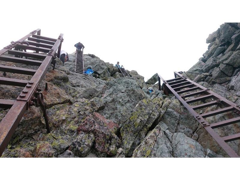 槍ヶ岳のはしご