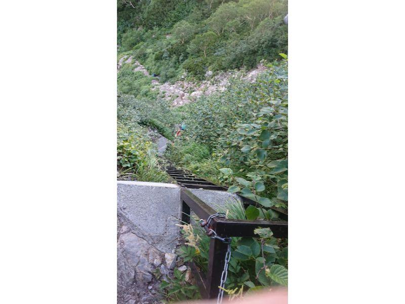 西岳の10メートルのはしご