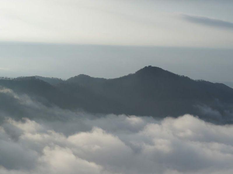 丹沢ー蛭ヶ岳稜線からの塔ノ岳