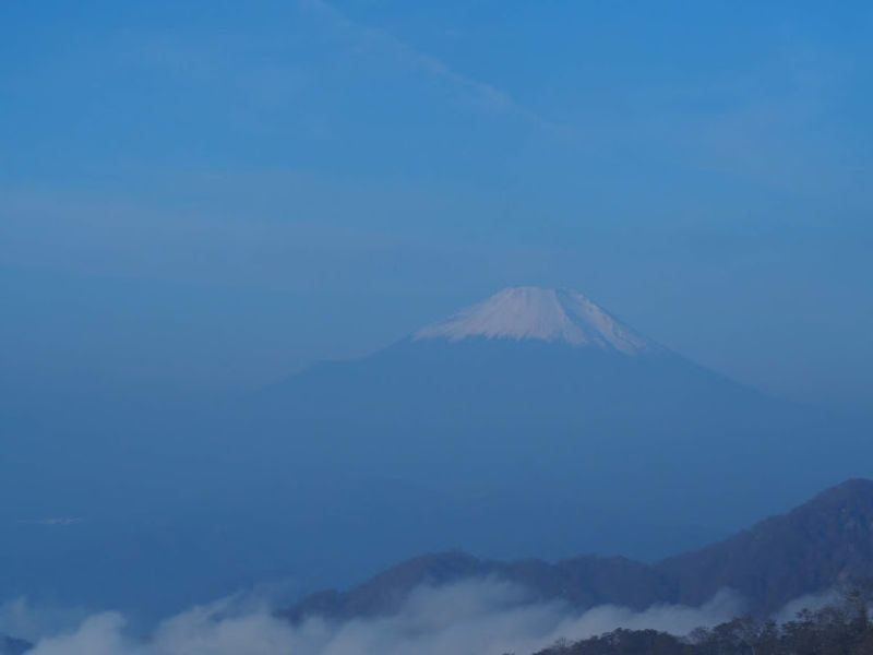 丹沢ー蛭ヶ岳稜線からの富士山