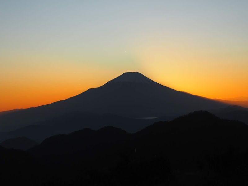蛭ヶ岳からの夕日
