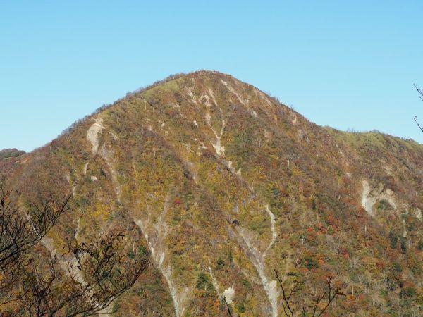 丹沢主稜からみる蛭ヶ岳