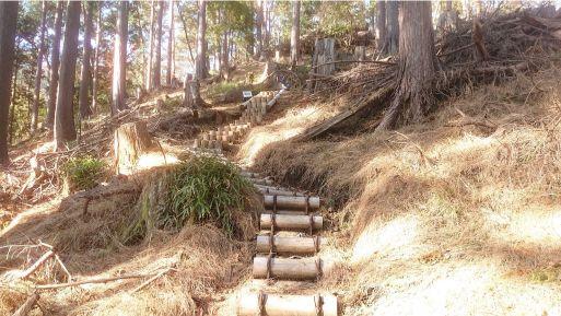 小丸尾根の階段2