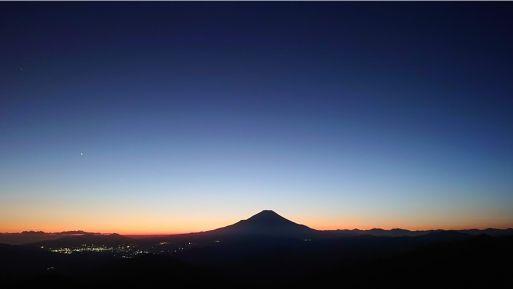 尊仏山荘からの夕日