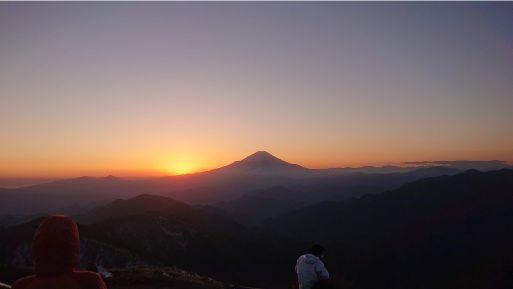 尊仏山荘の夕日2