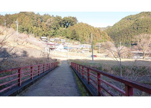 棒ノ折山の」下山口の橋