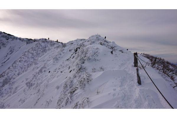 大山の稜線へ