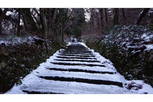 大山夏山登山口の階段