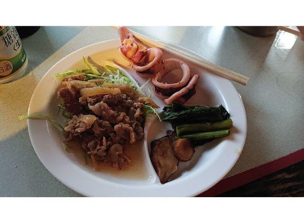 花立山荘の夕食