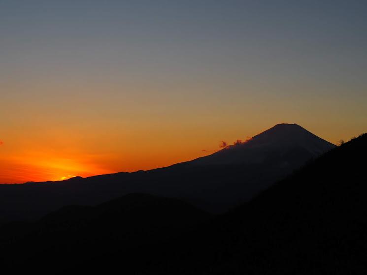 花立山荘からの夕日