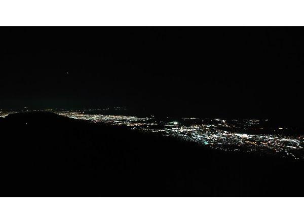 花立山荘からの夜景