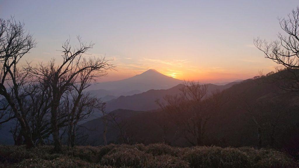 みやま山荘からの夕日