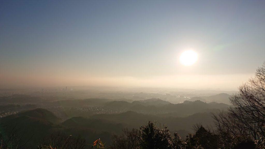 八王子城神社からの眺め
