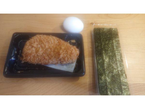 カツ丼の主要材料