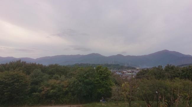 富士見の湯から表尾根の眺め