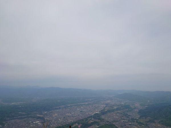 武甲山かからの眺めは長瀞秩父が見える