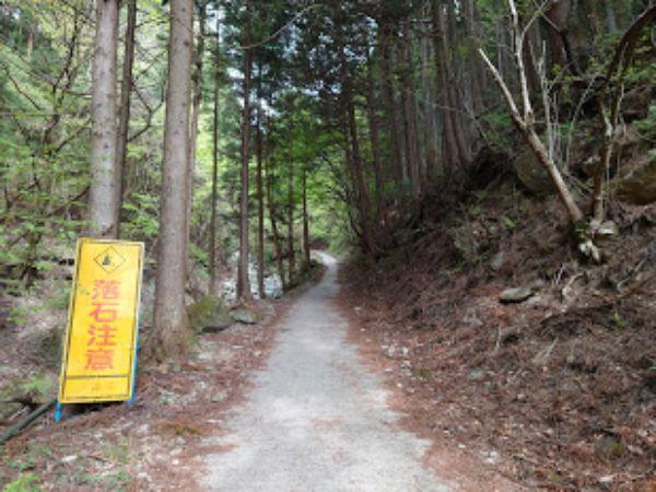 登山開始の整備された道