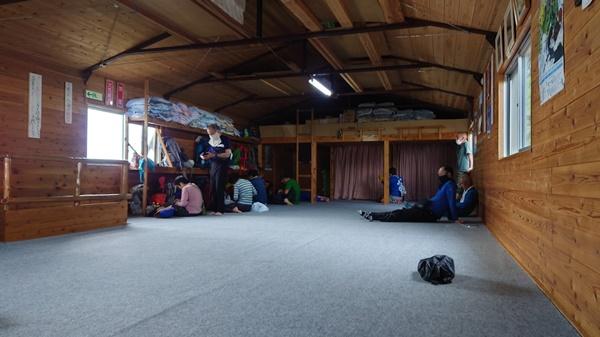 木曾殿小屋の大部屋