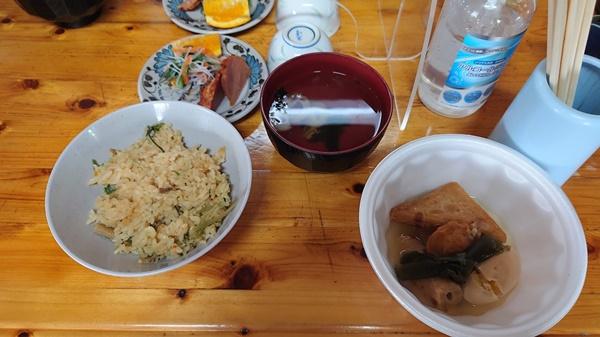 木曾殿小屋の夕食