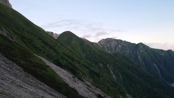 空木岳方面の眺め